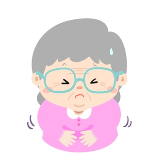 Babcia ma ból brzucha