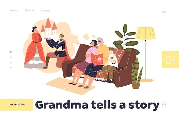 Babcia opowiada koncepcję strony docelowej