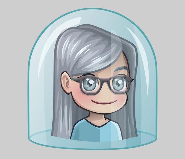 Babcia pod szklaną kopułą