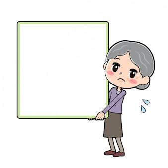 Babcia postać z kreskówki, deska wagi ciężkiej