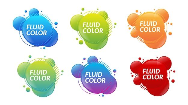 Bąbelkowy płynny płyn koło kolor gradientu splash