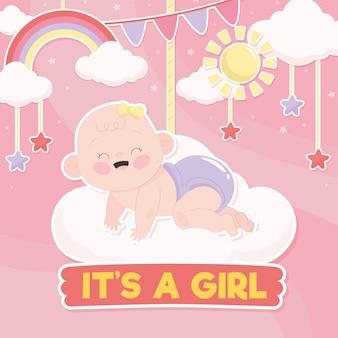 Baby girl prysznic koncepcja