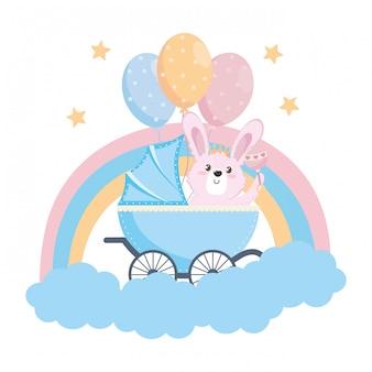 Baby prysznic symbol i królik
