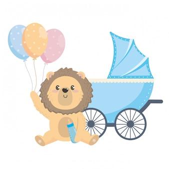 Baby prysznic symbol i lew