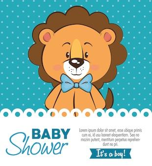 Baby shower boy zaproszenie karty