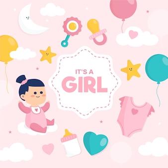 Baby shower (dziewczynka) z ubraniami