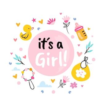 Baby shower (dziewczynka) z zabawkami i kwiatami