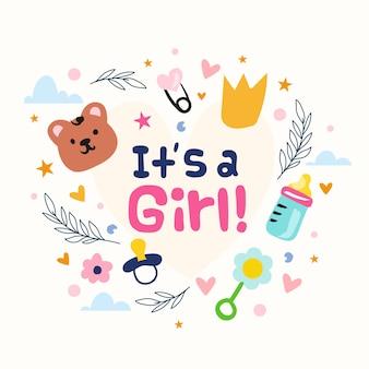 Baby shower (dziewczynka) z zabawkami