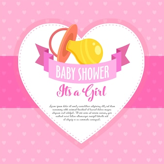 Baby shower invite greeting / invitation card
