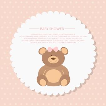 Baby shower karta zaproszenie
