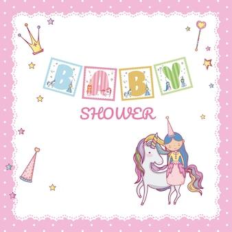 Baby shower księżniczka