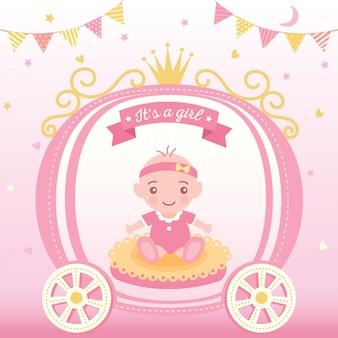 Baby shower księżniczki
