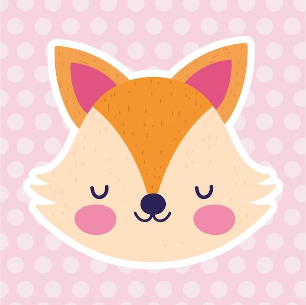 Baby shower love fox face różowe kropki
