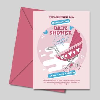 Baby shower na projekt zaproszenia dziewczyny