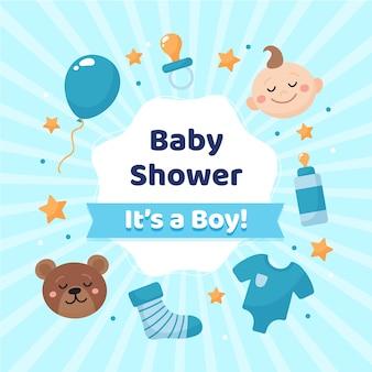 Baby shower odsłonięcie dla chłopca