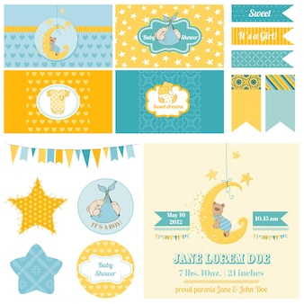 Baby shower sleeping bear theme