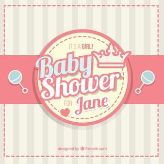 Baby shower z grzechotki tle