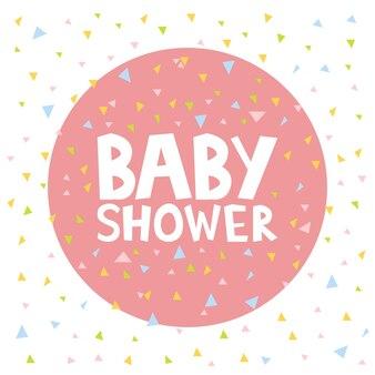 Baby shower zaproszenia szablon wektor ilustracja.