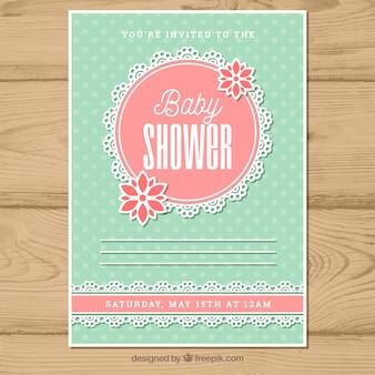 Baby shower zaproszenia w stylu płaski