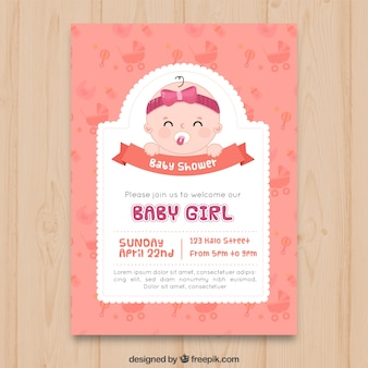 Baby shower zaproszenia w stylu wyciągnąć rękę
