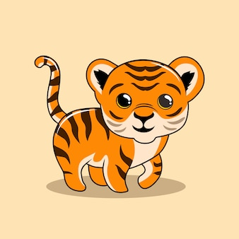 Baby tiger cartoon cute animals