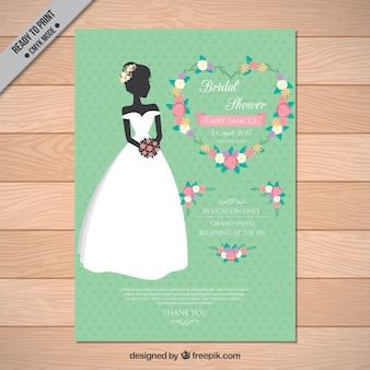Bachelorette zaproszenia z oblubienicy i pięknych kwiatów