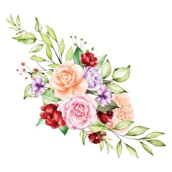 Backfround akwarela bukiet róż