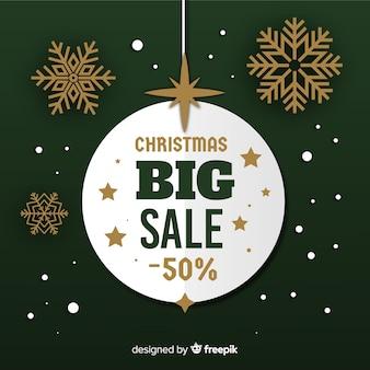 Backgorund sprzedaży świątecznej