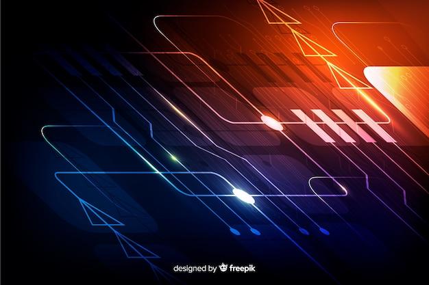 Backgrond realistyczny gradient płytki drukowanej