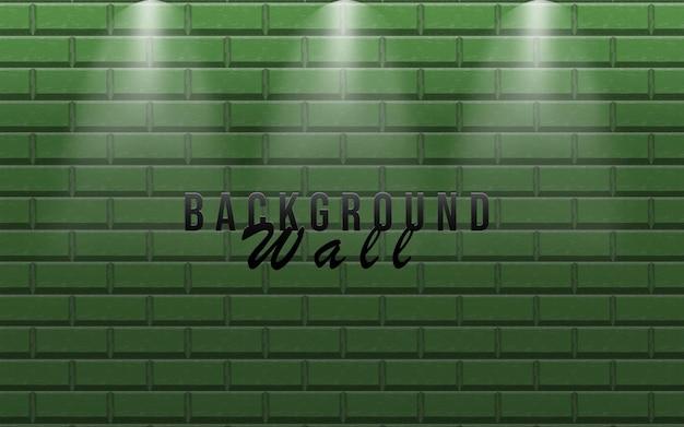 Backgroung ściany ze światłem lampy
