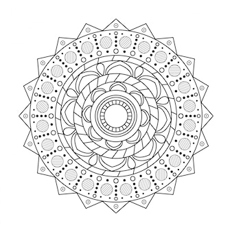 Backgrund mandali okrągły ornament