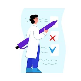 Badania Medyczne I Kontrole Stanu Zdrowia Premium Wektorów