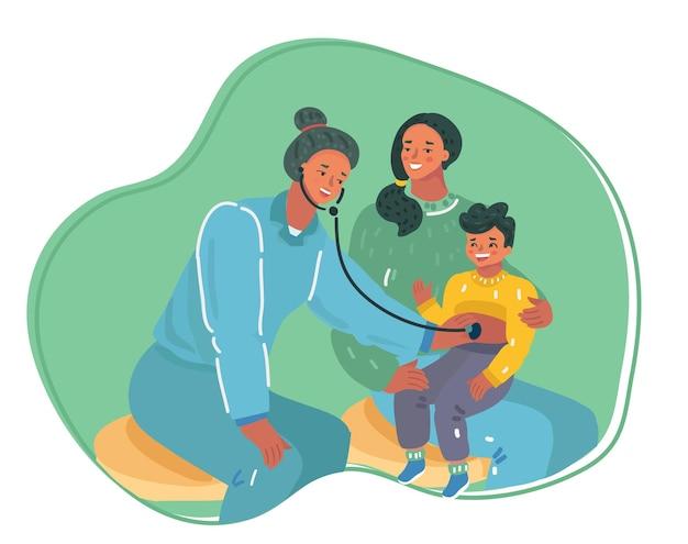Badanie dzieci przez pediatrę z mamą