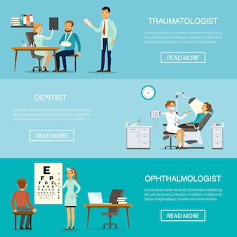 Badanie lekarskie poziome banery