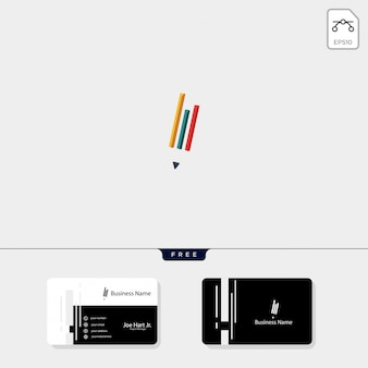 Badanie pióra logo szablon wektor ilustracja kreatywnych