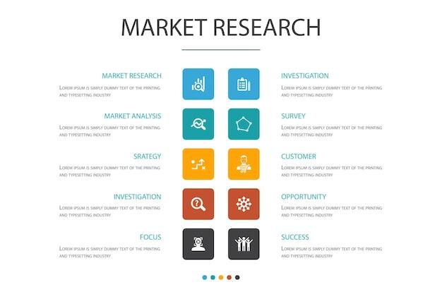 Badanie rynku infografika szablon projektu chmury.strategia, dochodzenie, ankieta, proste ikony klienta