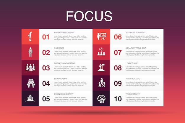 Badanie rynku szablon projektu infografiki.strategia, dochodzenie, ankieta, proste ikony klienta