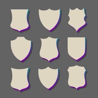 Badges stylu 3d i etykiety