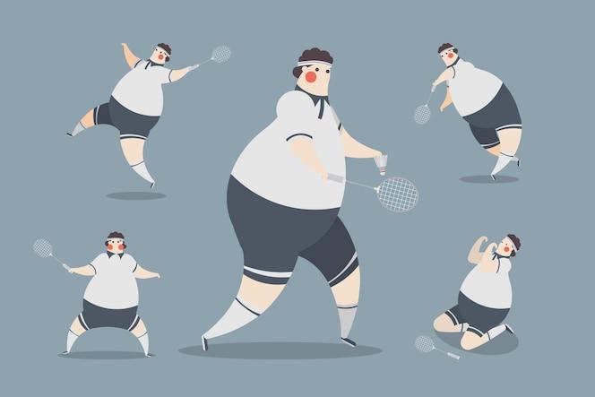 Badminton men design postaci