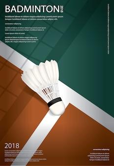 Badminton mistrzostwo plakatowa wektorowa ilustracja