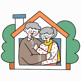 Bądź bezpieczny od domu 3 doodle ilustracja zasób