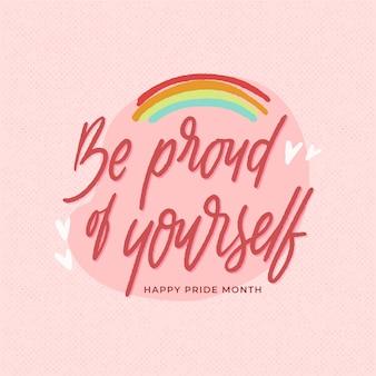 Bądź dumny z siebie napis