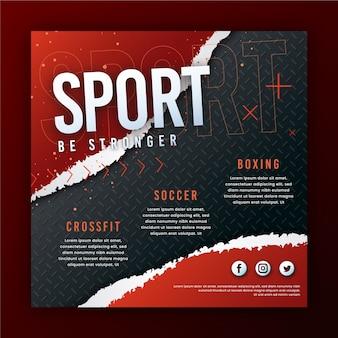 Bądź silniejszym sportowym szablonem ulotki