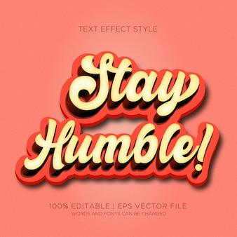 Bądź skromny! efekty tekstowe
