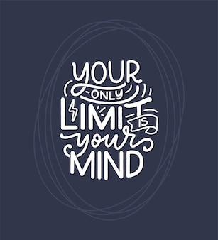 Bądź sobą, pisząc slogan. zabawny cytat na blog, plakat i druk. tekst współczesnej kaligrafii o dbaniu o siebie