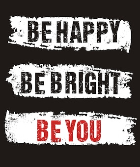 Bądź szczęśliwy typografii na koszulce z nadrukiem