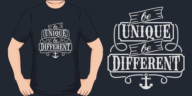 Bądź wyjątkowy, bądź inny. unikalny i modny design koszulki.