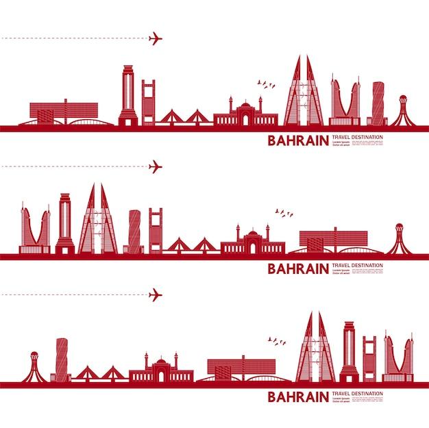 Bahrajn wielka ilustracja cel podróży.