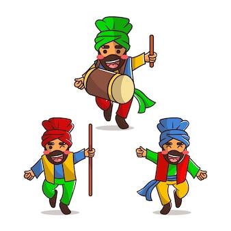 Baisakhi z 3 uroczymi postaciami