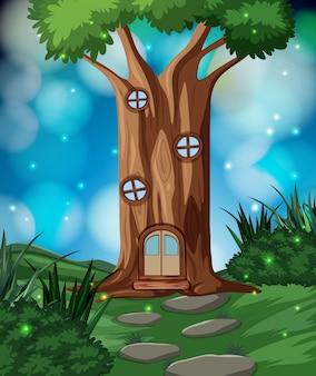 Bajkowy dom w lesie